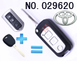 Toyota Highlander, Camry 3 button modified folding remote key casing