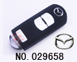 Mazda 3 button smart remote key shell
