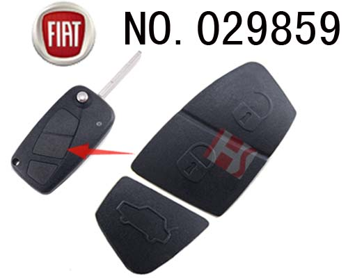 Fiat car 3-Button Remote Rubber for replacement