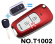 Premium red metallizing 2 button modified key shell(for Toyota series)