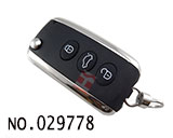 Bentley car 3-button remote control flip key casing