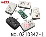 Middle East Edition Toyota Rand Cool Road Ze 2-4 button smart  key (ASK: 433 MHZ)