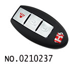 3 button smart remote key casing(without card slot) for Infiniti