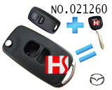 Mazda 2-Button Flip Remote Key Casing