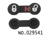 VW santana 2-button remote rubber replacement