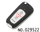 KIA FORTE 2-button remote flip key casing