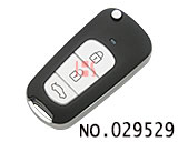 hyundai sonata 3-button flip remote key casing