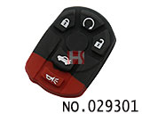 Cadillac 5-button remote rubber replacement