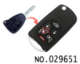 Chrysler 6-button Modified folding remote key casing