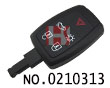 Volvo car 5 buttons remote key shell