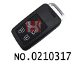 Volvo car 5 buttons smart remote key shell