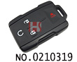 New Chevrolet car 3+1 button remote casing