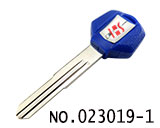 Suzuki Motocycle Transponder Key Shell(Blue,left slot)