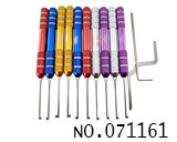 Round aluminium handle kappa lock tools(10pcs)