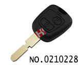 2 button remote key casing for Peugeot