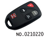 4 button car remote key cover for Mazda