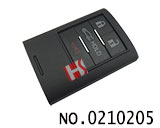 Cadillac,Corvette car 4 button smart remote control key case