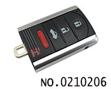 Acura car 4 button smart remote key casing