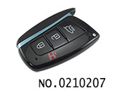 Hyundai Santafe car 3 button smart remote key casing
