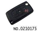 Peugeot 3 Button Remote Flip Key Shell(0536/VA2/Mid light button)