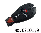 Dodge,Jeep,Chrysler car 5 button smart remote key casing
