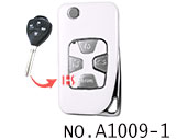 Toyota 4 button refit flip remote key shell(Smooth white)