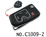 Toyota Camry 4 Button Folding Refit Remote Casing-Matte Black
