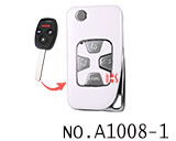 Honda 4 button refit flip remote key shell(Smooth white)