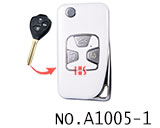 Toyota 3 button refit flip remote key shell(Smooth white)