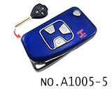 Toyota camry 3 Button Folding Refit Remote Casing-Smooth blue