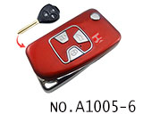 Toyota camry 3 Button Folding Refit Remote Casing-Smooth red