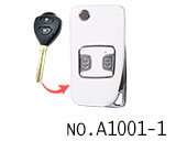 Toyota 2 button refit flip remote key shell(Smooth white)