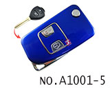 Toyota Camry 2 Button Folding Refit Remote Casing-Smooth blue