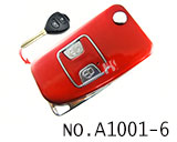 Toyota Camry 2 Button Folding Refit Remote Casing-Smooth red