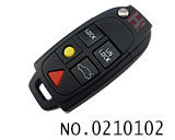 Volvo car 5 button remote flip key shell(no logo)
