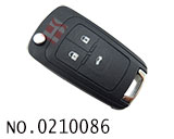 Opel 3 button remote flip key casing