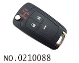 Opel,Chevrolet car 3 button flip remote key casing HU100