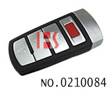 VW Magotan car 3+1 button smart remote key shell