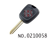 Citroen 2 button remote key shell(without logo)