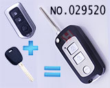 Toyota highlander/camry 3-button remote flip key casing