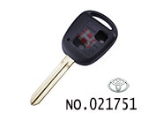 Toyota Prado 2-button Remote Key Casing(no logo)
