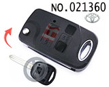 Installable Toyota 3 Button Original Flip Remote Key Casing
