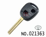Toyota car 2 button remote end milling key shell