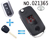 Toyota Camry 3 Button Flip Remote Key Casing