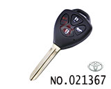 Toyota Camry 4-button Remote chip key Casing