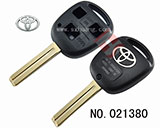 Toyota car 3 buttons remote vertical milling key shell