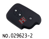 Lexus 3-Button Smart Key Silicon Rubber bag(Black)