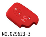 Lexus 3-Button Smart Key Silicon Rubber bag(Red)