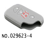 Lexus 3-Button Smart Key Silicon Rubber bag(Grey)