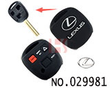 Lexus,Toyota car 3 button remote stereo tactile silicon rubber bag(Black)